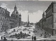 1750 - Vue de la Place Navone sur les ruines du Cirque Agonal
