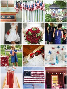 Fourth of July wedding inspiration board | Weddingbee Photo Gallery