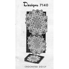 This crochet pattern gives directions for a design worked in pineapple and spiderweb stitches that resembles a fern motif.  This is Alice Brooks 7140, a Mail Order Design.