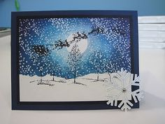 Santa Sleigh in the snow - bjl