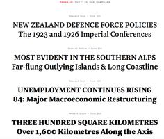 Serif Typeface, Defence Force