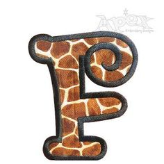 Curlz Applique Embroidery Font Set Includes: 3,4 and 6 Inch Letters & Numbers