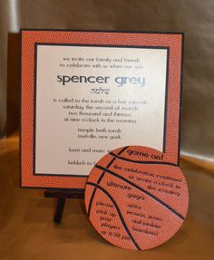 Custom Basketball themed Bar Mitzvah Invitation