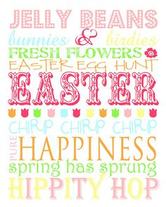Easter sentiments.  I could use some of these on a scrapbook page.