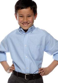 Izod Boys' Oxford Shirt  Boys 8-20 - Blue - 16