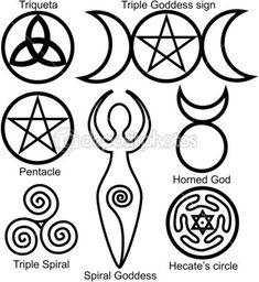 Witchcraft Symbols And Their Meanings | Set of the Wiccan symbols | Stock Vector © Viacheslav Belyaev ...