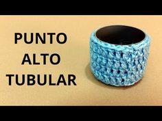 Punto Medio Alto Tubular en tejido crochet tutorial paso a paso. - YouTube