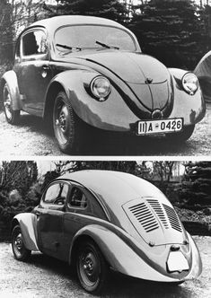 1937 VW 30 Prototype--Front & Back