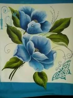 Easy Canvas Painting, Tole Painting, Fabric Painting, Painting & Drawing, Canvas Paintings, Pinterest Pinturas, Donna Dewberry Painting, Fabric Paint Designs, Hand Painted Fabric