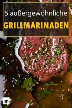 Make grilled marinade yourself: 5 brilliant recipes for men . - Make grilled marinade yourself: 5 brilliant recipes for men # Men& bus - Grilling Tips, Grilling Recipes, Pork Recipes, Grill N Chill, Bbq Grill, Barbecue Recipes, Cauliflower Recipes, Food And Drink, Easy Meals