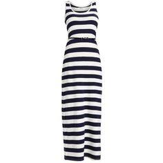 Zalando Essentials Petite Maxi dress (95 PEN) ❤ liked on Polyvore featuring dresses, white day dress, white maxi dress, petite length maxi dresses, white colour dress and petite dresses