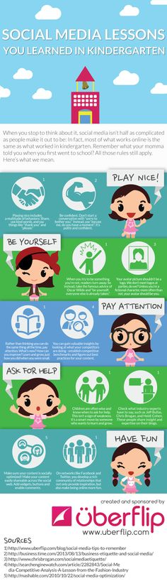 5 Social Media Lessons You Learned Back In Kindergarten #infographic