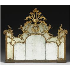 A LOMBARD CARVED GILTWOOD MIRROR, THIRD QUARTER 18TH CENTURY Sotheby's