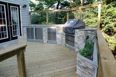 MULTILEVEL PRESSURE TREATED DECK WITH GLASS RAIL, HALIFAX | Archadeck Outdoor Living of Nova Scotia
