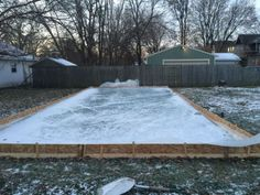 How to build a DIY ice rink in your own backyard... need to try this!