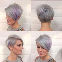 Lavender Pixie Bob Choppy Pixie Cut, Asymmetrical Pixie Cuts, Edgy Pixie Cuts, Pixie Bob Haircut, Pixie Cut With Bangs, Best Pixie Cuts, Long Pixie Cuts, Short Hair Cuts, Short Hair Styles