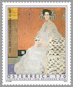 Austria Post to honor Gustav Klimt, 2012 More about stamps: http://sammler.com/stamps/