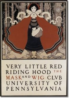 """Maxfield Parrish  """"Very Little Red Riding Hood"""" 1897"""