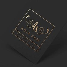 Square Logo Business Stamp Logo Elegant Logo by WithPassionDesign