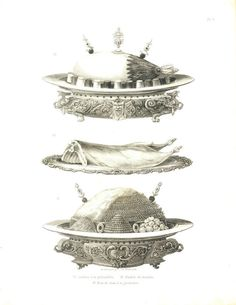 Antique Print French Cuisine 1874 Food by CarambasVintage on Etsy, $32.00