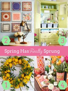 Here are 4 ways to bring color back into your home for Spring!
