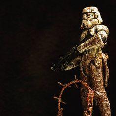 Star Wars, Stormtrooper, World War I, Mud, Homemade, Diorama, Figurine