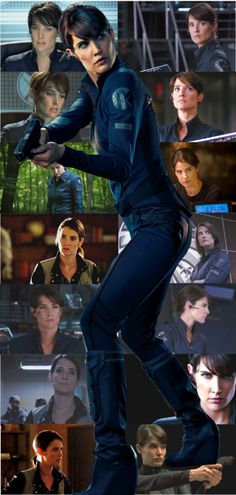 """Agent Maria Hill (Cobie Smulders).  I also have to kindly (yet smugly) point out that this is the body onto which Sharon Carter's head was photo shopped for multiple CATWS """"posters""""."""