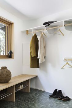 Bo Bedre Norge Drop Zone, Designers Guild, Mudroom, Entryway Bench, Wardrobe Rack, Storage, Furniture, Home Decor, Scandinavian Interiors