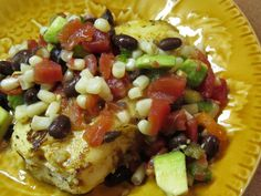 Tilapia with Corn & Black Bean Salsa (Plus 9 Other Ways) Black Bean Corn Salsa, Tilapia, Black Beans, Cobb Salad, Broccoli, Ash, Bodybuilding, Seafood, Dinner Recipes
