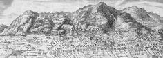 1698 - Plan du Siège de la Ville de Barcelone avec la Carte de la côte de la Mer depuis le cap de Cervère jusqu'aux environs de Llobregat : Dédié au Roy