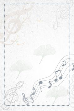 Simple Musical Instrument Border Background