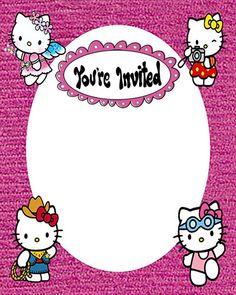 Hello Kitty Invite Templates New Hello Kitty Free Printable Invitation Templates Hello Kitty Invitation Card, Hello Kitty Birthday Invitations, Kids Birthday Party Invitations, Diy Birthday, Wedding Invitations, Free Printable Invitations Templates, Birthday Invitation Templates, Invitations Online, Invite