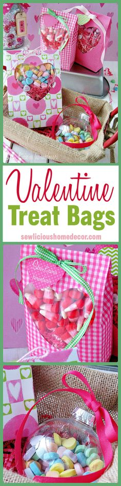 How to Make Valentine Treat Bags. sewlicioushomedecor.com