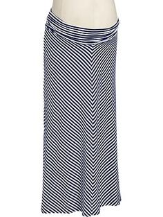 Maternity Chevron-Striped Maxi Skirts | Old Navy