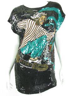 70s 80s Sequin Skater Girl Dress