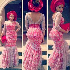 Beautiful dress! #Gele