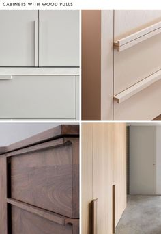 New kitchen cabinets handles joinery details ideas Refacing Kitchen Cabinets, Cabinet Refacing, Modern Kitchen Cabinets, Kitchen Cabinet Doors, Kitchen Handles, Cabinet Hardware, Door Handles, Cabinet Makeover, Kitchen Cabinets Without Hardware