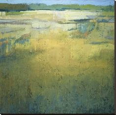 Early at the Marsh Stretched Canvas Print by Jeannie Sellmer at Art.com