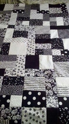 Black and White quilt. 5th quilt