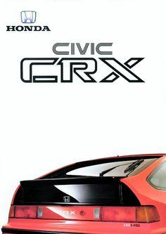 Honda CRX Mk2 Netherlands Brochure 1988