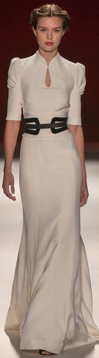 #Novia con cinturón negro. Carolina Herrera