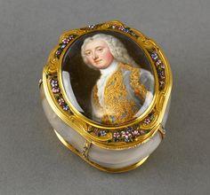 Portrait miniature de Robert Darcy, 4e comte de Holdernesse. A l'intérieur il y a le portrait présumé du duc de Schomberg, vers 1700-50 artiste inconnu