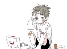 Abused anime boy Guro Kuroko no Basket (Waiiiit what is this Kiyoshi?? Whyyyy)