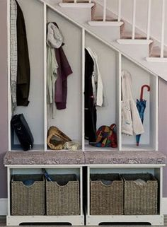 Best Ideas For Under The Stairs Storage You Can Copy Trending Decorating . Best Ideas For Under The Stairs Storage You Can Copy Trending Decorating Inspirations IdeasB Staircase Storage, Staircase Design, Under Stair Storage, Modern Staircase, Boutique Interior, Basement Stairs, House Stairs, Basement Ceilings, Basement Ideas