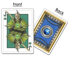 Elven Jack of Clubs from kingdoms of Erdens fantasy comic playing cards now on kickstarter Kingdoms of Erden: Fantasy Comic Face Cards. #fantasy #comic #playingcards  #spades #clubs #hearts #diamonds #king #queen #jack #knight #elf #dwarf #red #blue #skulls #eagles #rams #poisonivy #gems #rose #runes #keltic #sword #axe #scepter #ordinator #dread #paladin #dwarven #dwarves #elven #elves #bow #arrows #medieval #runic #armor #thorns #feathers #vines #leaves #shield #ace