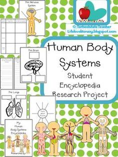Human Body Systems Student Encyclopedia Research Project - tarheelstate teacher Science Classroom, Teaching Science, Science Education, Health Education, Teaching Ideas, Classroom Ideas, Creative Teaching, Future Classroom, Physical Education