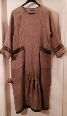 Crunch brand linen dress with unique tapestry accents - an artsy brand I just found, made in the USA