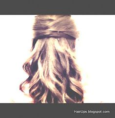 easy half-updo hairstyles hair tutorial for long hair and for medium hair.  Wedding hairstyles, for work, for school, hair - formal