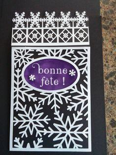 Enveloppe pour la carte de boule de neige crée par Karole Lemieux