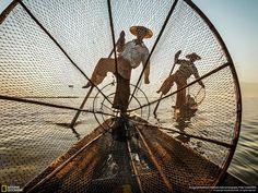 Michele Martinelli Intha fishermen